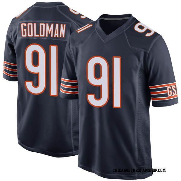 Men's Eddie Goldman Chicago Bears Game Navy Team Color Jersey
