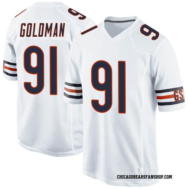 Men's Eddie Goldman Chicago Bears Game White Jersey