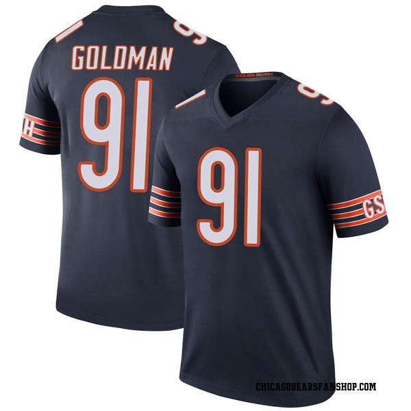 Men's Eddie Goldman Chicago Bears Legend Navy Color Rush Jersey
