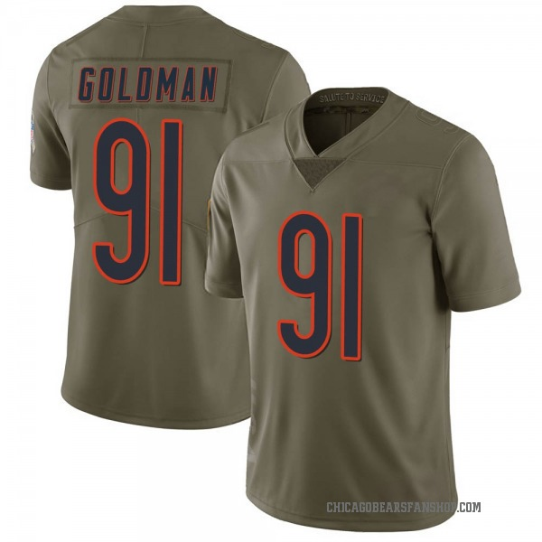 Men's Eddie Goldman Chicago Bears Limited Green 2017 Salute to Service Jersey