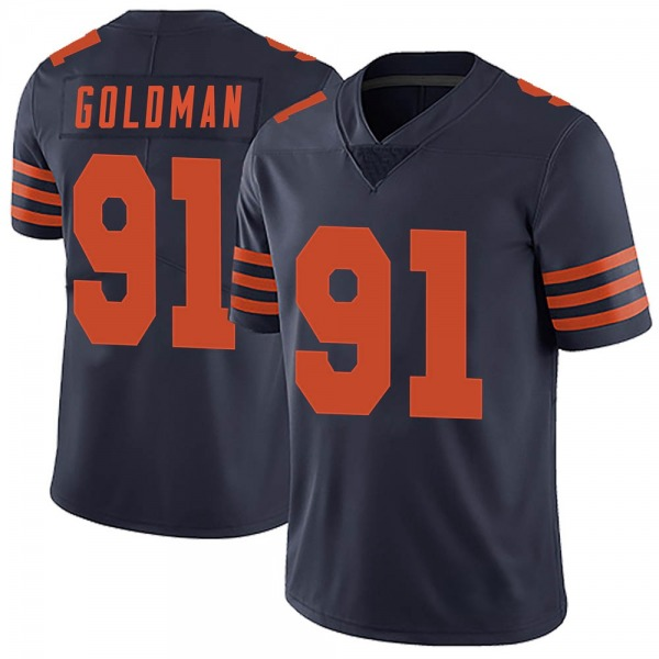 Men's Eddie Goldman Chicago Bears Limited Navy Blue Alternate Vapor Untouchable Jersey