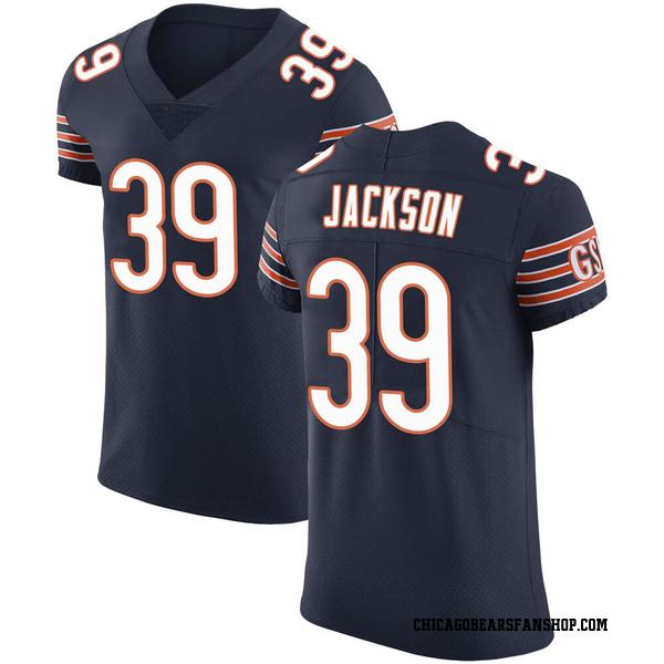 Men's Eddie Jackson Chicago Bears Elite Navy Team Color Vapor Untouchable Jersey