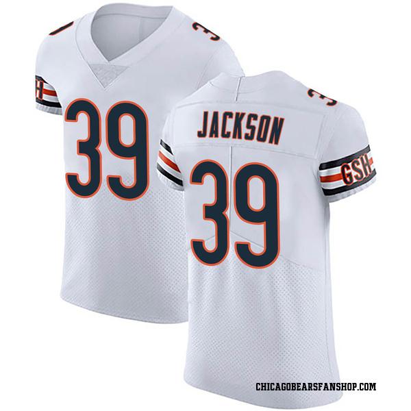 Men's Eddie Jackson Chicago Bears Elite White Vapor Untouchable Jersey