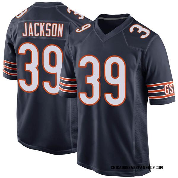 Men's Eddie Jackson Chicago Bears Game Navy Team Color Jersey