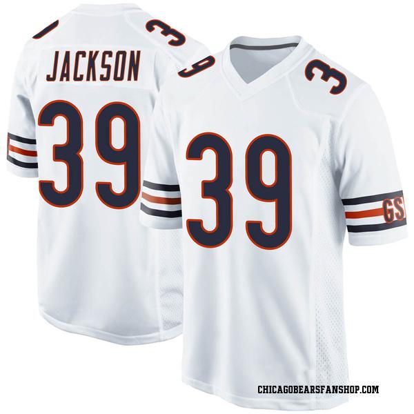 Men's Eddie Jackson Chicago Bears Game White Jersey
