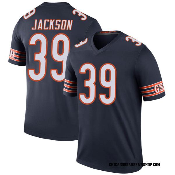Men's Eddie Jackson Chicago Bears Legend Navy Color Rush Jersey