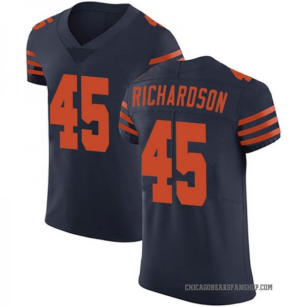 Men's Ellis Richardson Chicago Bears Elite Navy Blue Alternate Vapor Untouchable Jersey