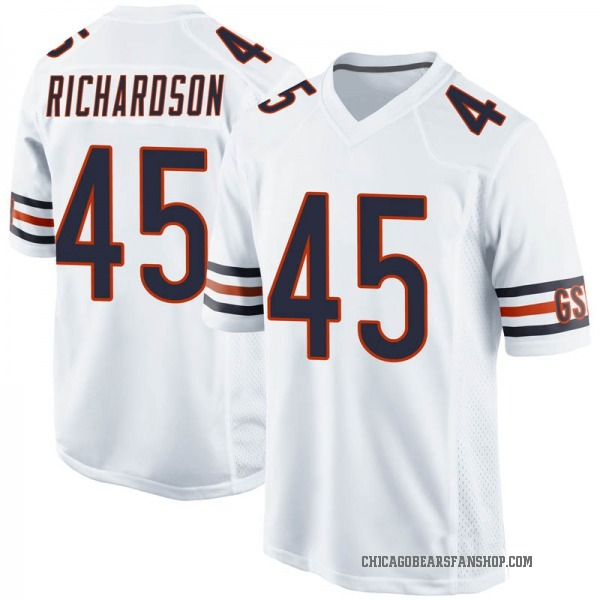 Men's Ellis Richardson Chicago Bears Game White Jersey