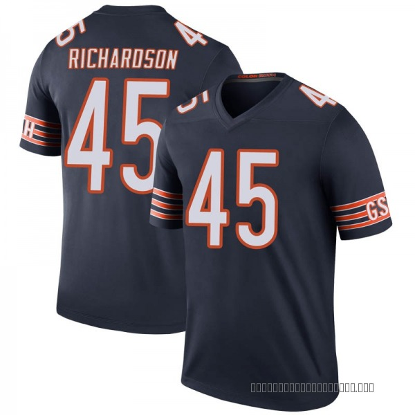 Men's Ellis Richardson Chicago Bears Legend Navy Color Rush Jersey