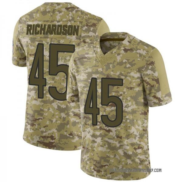 Men's Ellis Richardson Chicago Bears Limited Camo 2018 Salute to Service Jersey