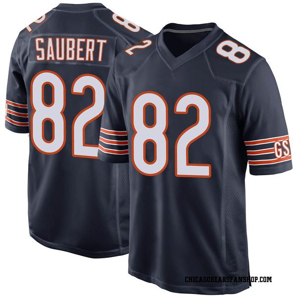 Men's Eric Saubert Chicago Bears Game Navy Team Color Jersey