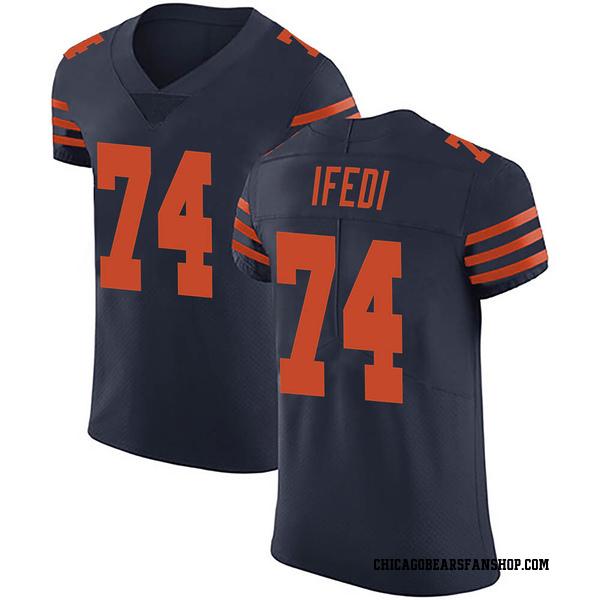 Men's Germain Ifedi Chicago Bears Elite Navy Blue Alternate Vapor Untouchable Jersey
