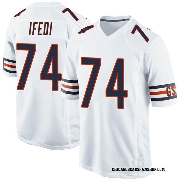 Men's Germain Ifedi Chicago Bears Game White Jersey