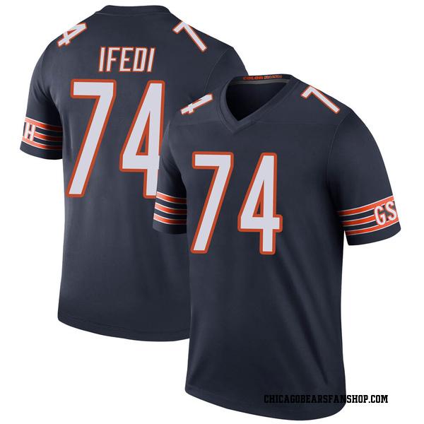 Men's Germain Ifedi Chicago Bears Legend Navy Color Rush Jersey