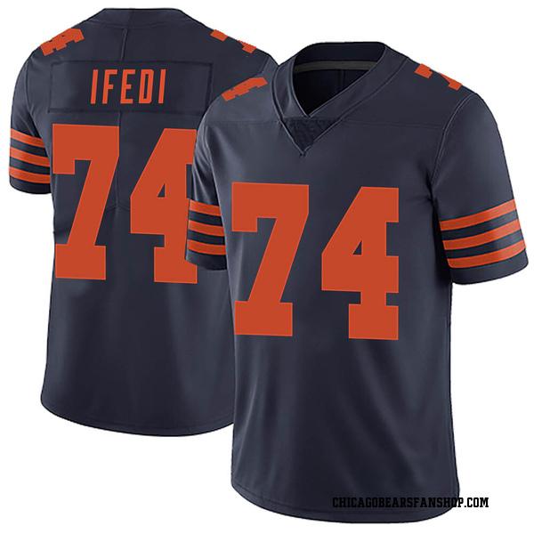 Men's Germain Ifedi Chicago Bears Limited Navy Blue Alternate Vapor Untouchable Jersey
