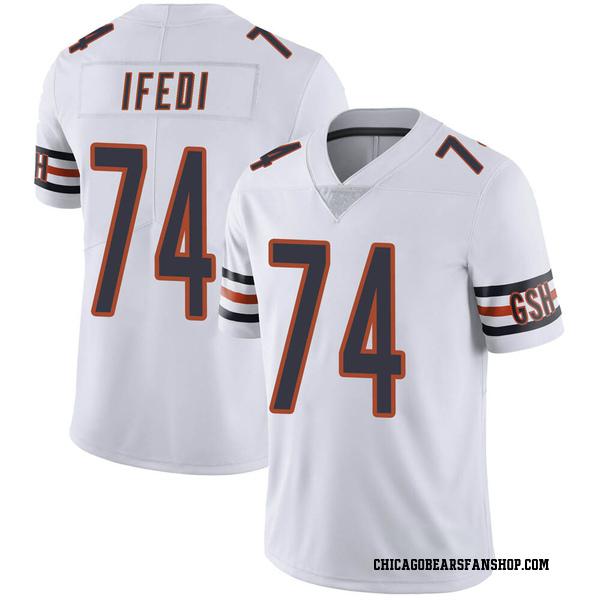 Men's Germain Ifedi Chicago Bears Limited White Vapor Untouchable Jersey