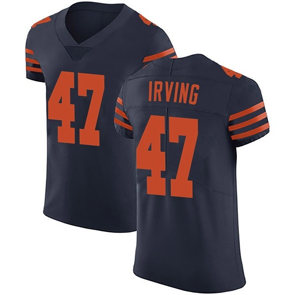 Men's Isaiah Irving Chicago Bears Elite Navy Blue Alternate Vapor Untouchable Jersey