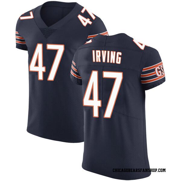 Men's Isaiah Irving Chicago Bears Elite Navy Team Color Vapor Untouchable Jersey