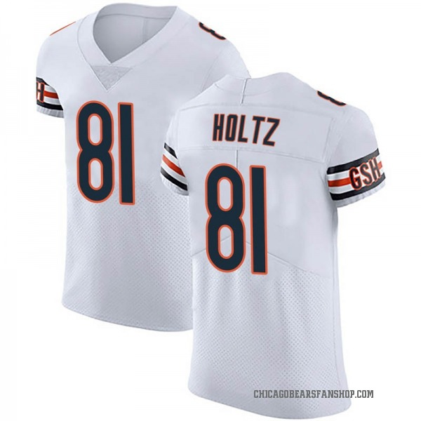 Men's J.P. Holtz Chicago Bears Elite White Vapor Untouchable Jersey