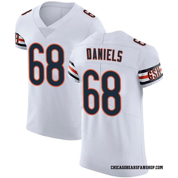 Men's James Daniels Chicago Bears Elite White Vapor Untouchable Jersey