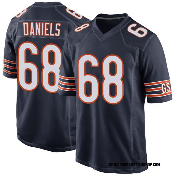Men's James Daniels Chicago Bears Game Navy Team Color Jersey