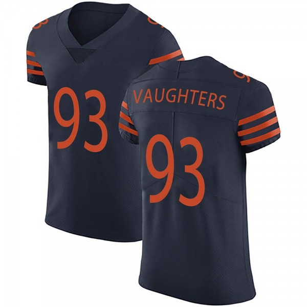 Men's James Vaughters Chicago Bears Elite Navy Blue Alternate Vapor Untouchable Jersey