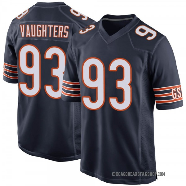 Men's James Vaughters Chicago Bears Game Navy 100th Season Jersey