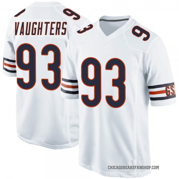 Men's James Vaughters Chicago Bears Game White 100th Season Jersey