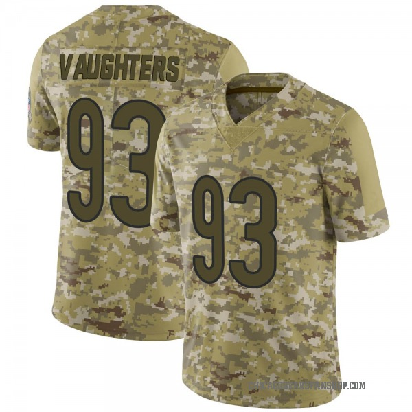 Men's James Vaughters Chicago Bears Limited Camo 2018 Salute to Service Jersey