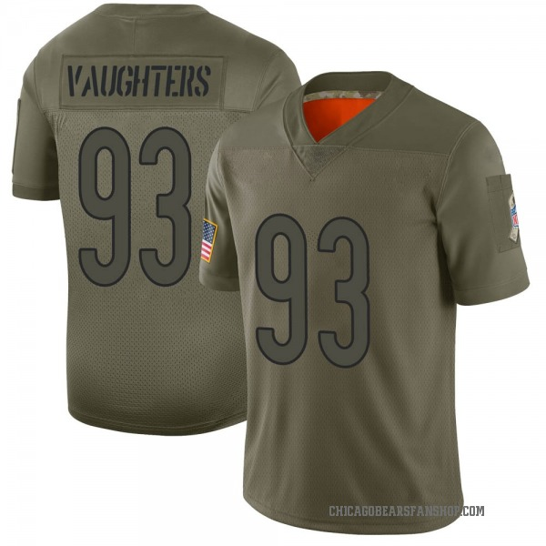 Men's James Vaughters Chicago Bears Limited Camo 2019 Salute to Service Jersey