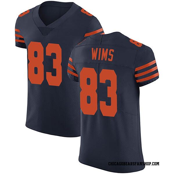 Men's Javon Wims Chicago Bears Elite Navy Blue Alternate Vapor Untouchable Jersey