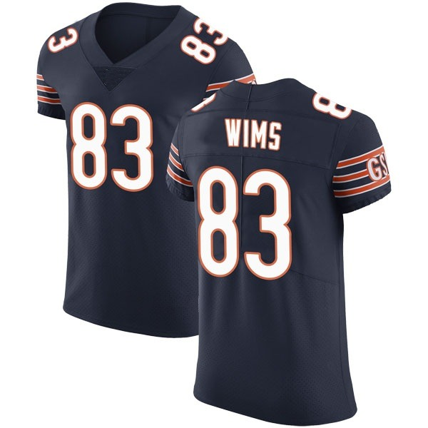 Men's Javon Wims Chicago Bears Elite Navy Team Color Vapor Untouchable Jersey