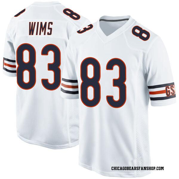 Men's Javon Wims Chicago Bears Game White Jersey