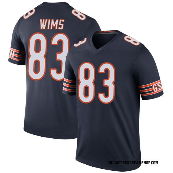 Men's Javon Wims Chicago Bears Legend Navy Color Rush Jersey
