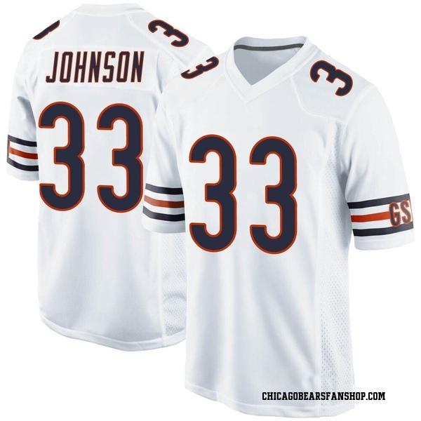 Men's Jaylon Johnson Chicago Bears Game White Jersey