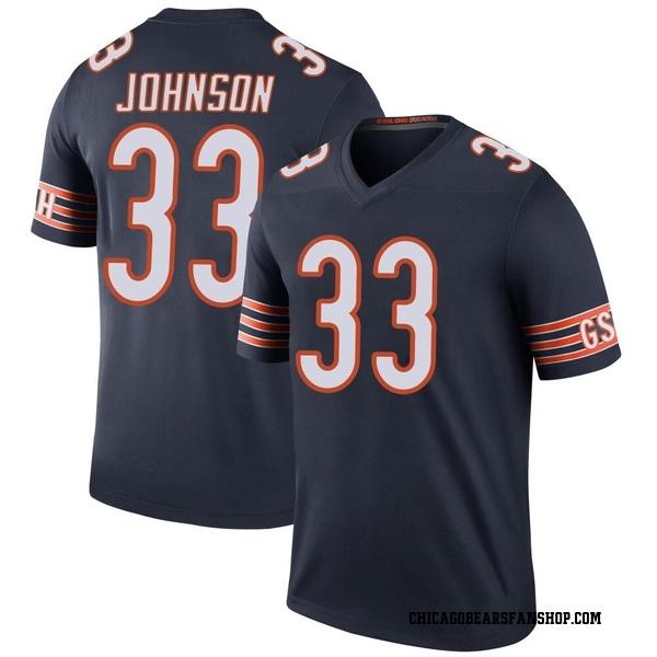 Men's Jaylon Johnson Chicago Bears Legend Navy Color Rush Jersey