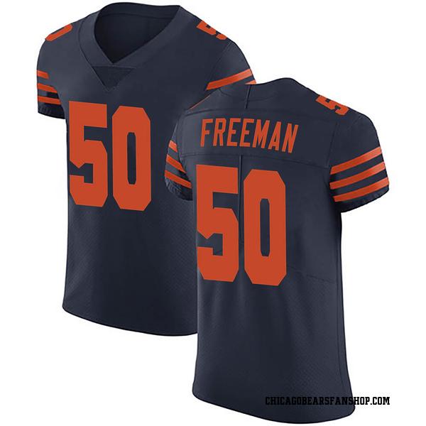 Men's Jerrell Freeman Chicago Bears Elite Navy Blue Alternate Vapor Untouchable Jersey