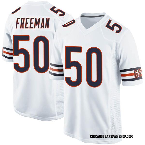 Men's Jerrell Freeman Chicago Bears Game White Jersey
