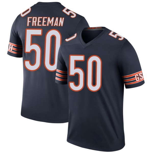 Men's Jerrell Freeman Chicago Bears Legend Navy Color Rush Jersey