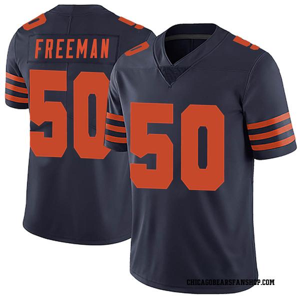 Men's Jerrell Freeman Chicago Bears Limited Navy Blue Alternate Vapor Untouchable Jersey