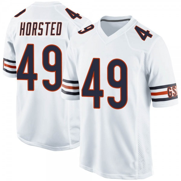 Men's Jesper Horsted Chicago Bears Game White 100th Season Jersey