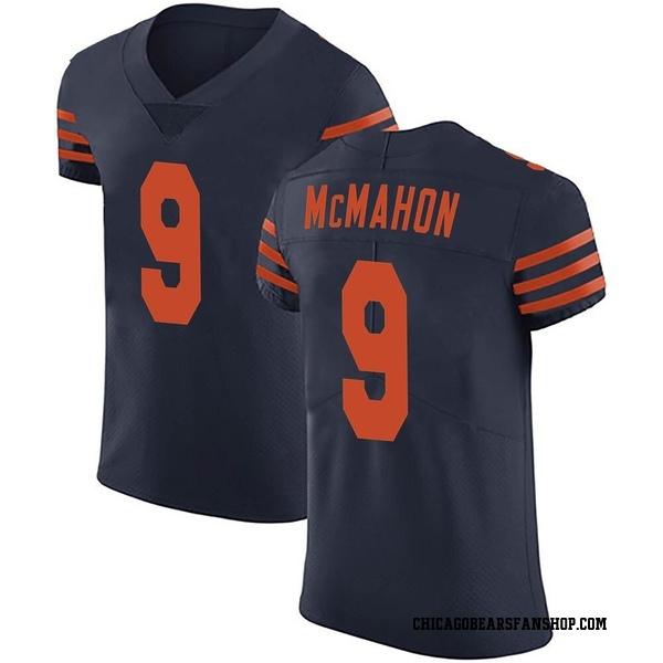 Men's Jim McMahon Chicago Bears Elite Navy Blue Alternate Vapor Untouchable Jersey