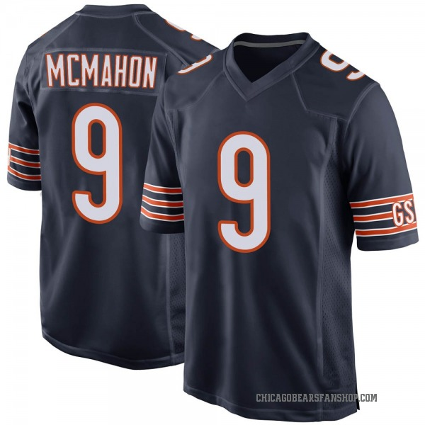 Men's Jim McMahon Chicago Bears Game Navy Team Color Jersey