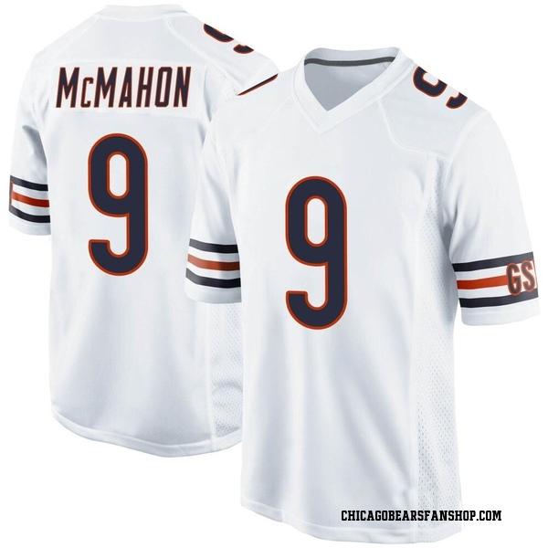 Men's Jim McMahon Chicago Bears Game White Jersey