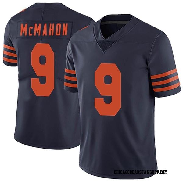 Men's Jim McMahon Chicago Bears Limited Navy Blue Alternate Vapor Untouchable Jersey