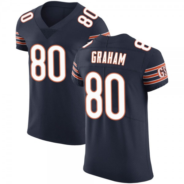 Men's Jimmy Graham Chicago Bears Elite Navy Team Color Vapor Untouchable Jersey