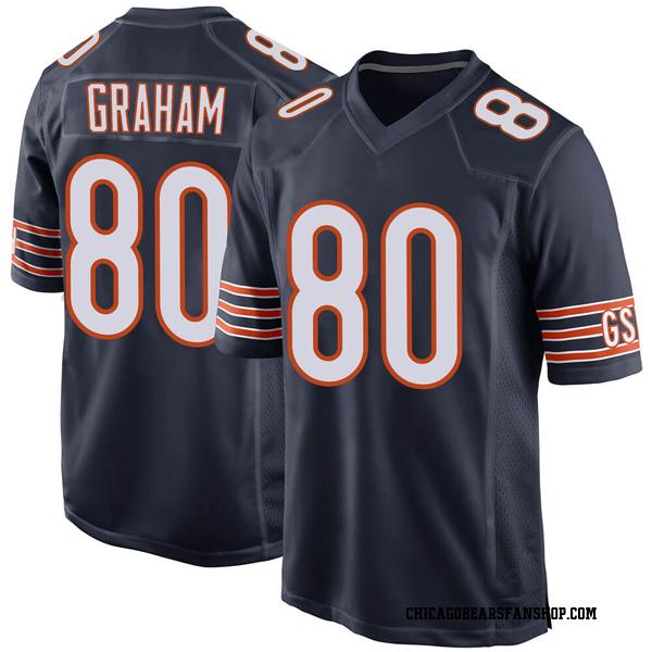 Men's Jimmy Graham Chicago Bears Game Navy 100th Season Jersey