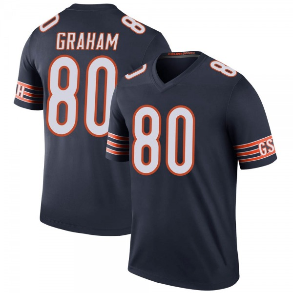 Men's Jimmy Graham Chicago Bears Legend Navy Color Rush Jersey