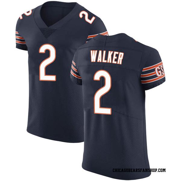 Men's Joe Walker Chicago Bears Elite Navy Team Color Vapor Untouchable Jersey