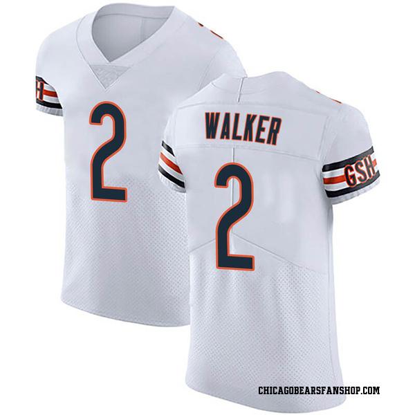 Men's Joe Walker Chicago Bears Elite White Vapor Untouchable Jersey